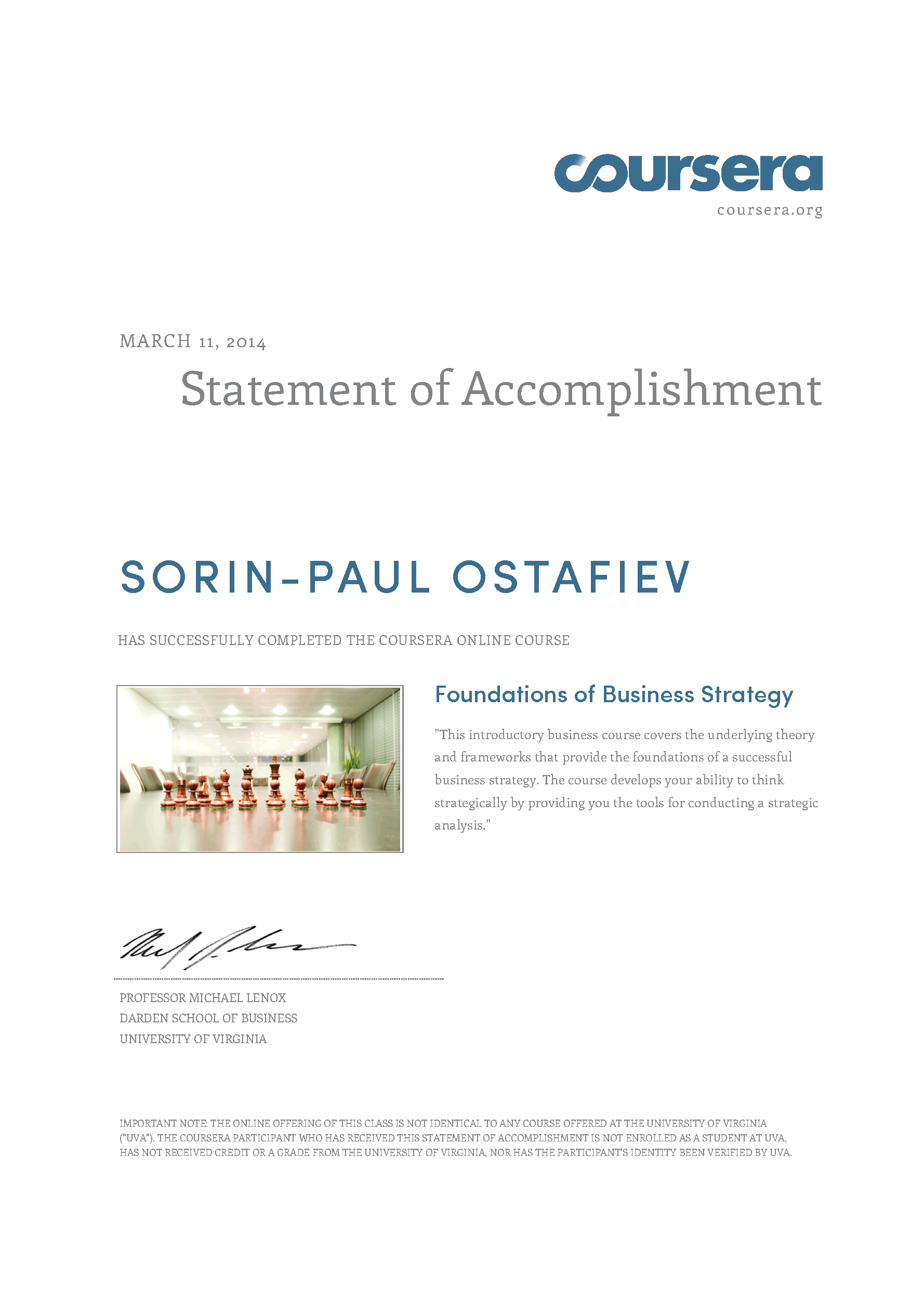 Sorin Paul Ostafiev Curriculum Vitae